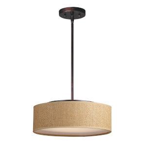 Prime Oil Rubbed Bronze 16-Inch Three-Light LED Adjustable Pendant