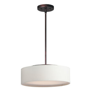 Prime Oil Rubbed Bronze 16-Inch 3000K Led Three-Light Pendant