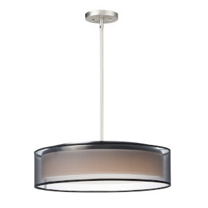 Prime Satin Nickel 20-Inch Five-Light LED Adjustable Pendant