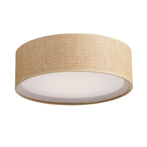 Prime Grass Cloth 16-Inch LED Flush Mount