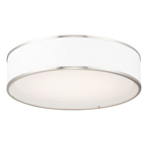 Prime Satin Nickel 20-Inch LED Flush Mount