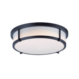 Rogue Black Three-Light Flush Mount
