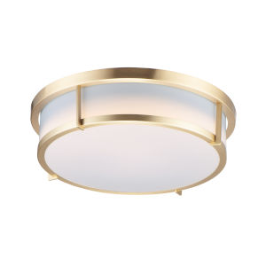 Rogue E26 Satin Brass Two-Light Flush Mount