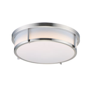 Rogue Satin Nickel LED Flush Mount with Emergency Backup Title 24