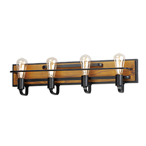 Black Forest Black and Ashbury Four-Light Wall Sconce