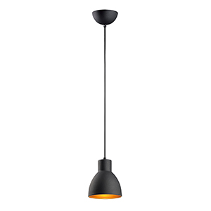 Cora Black and Gold Seven-Inch One-Light Pendant
