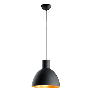 Cora Black and Gold 13-Inch One-Light Pendant