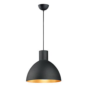 Cora Black and Gold 19-Inch One-Light Pendant