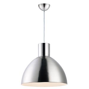 Cora Satin Nickel 19-Inch One-Light Pendant