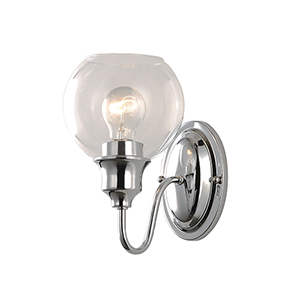 Ballord Polished Chrome Six-Inch One-Light Wall Sconce