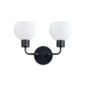 Coraline Black Two-Light Wall Sconce