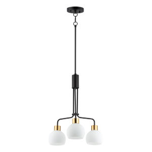 Coraline Bronze Rupert Three-Light Chandelier