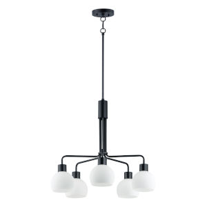 Coraline Black Five-Light Chandelier