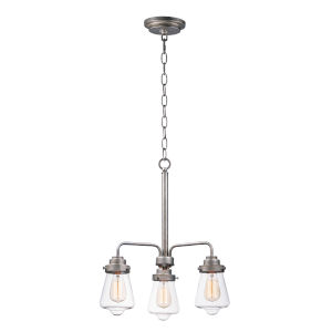 Cape Cod Weathered Zinc 21-Inch Three-Light Adjustable Chandelier