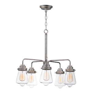 Cape Cod Weathered Zinc 26-Inch Five-Light Adjustable Chandelier