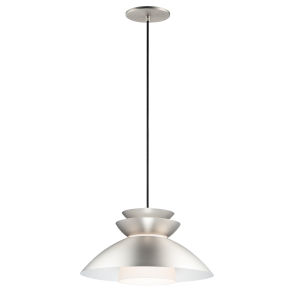 Nordic Brushed Platinum One-Light Pendant