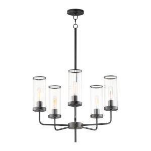 Crosby Black Five-Light Chandelier