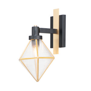 Adorn Black and Burnished Brass One-Light Bath Vanity