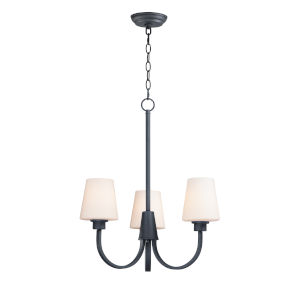 Shelter Black Three-Light Chandelier