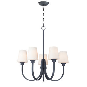 Shelter Black Five-Light Chandelier