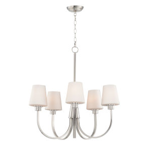 Shelter Satin Nickel Five-Light Chandelier