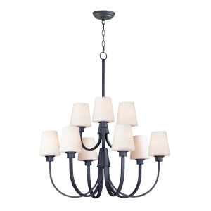 Shelter Black Nine-Light LED Chandelier