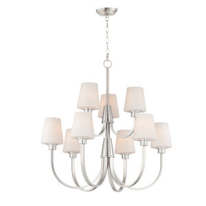 Shelter Satin Nickel Nine-Light LED Chandelier