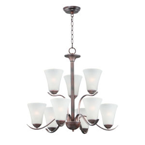Vital Oil Rubbed Bronze Nine-Light LED Chandelier