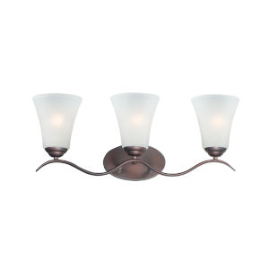 Vital Oil Rubbed Bronze Three-Light Bath Vanity