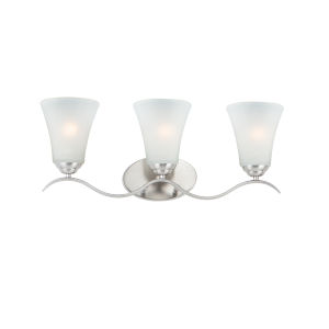 Vital Satin Nickel Three-Light Bath Vanity