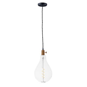 Early Electric Black and Antique Brass Two-Inch 5W LED Mini Pendant