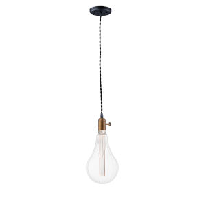 Early Electric Black and Antique Brass Two-Inch 3.5W LED Mini Pendant