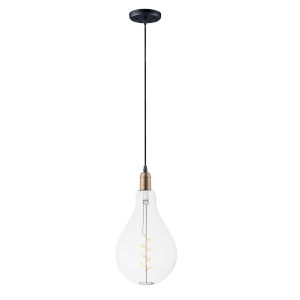 Early Electric Black and Antique Brass Five-Inch 5W LED Mini Pendant
