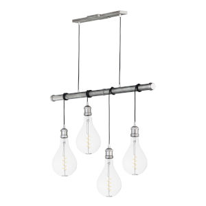 Early Electric Weathered Zinc Five-Inch 5W Four-Light LED Mini Pendant