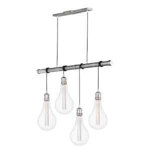 Early Electric Weathered Zinc Five-Inch Four-Light 3.5W LED Mini Pendant