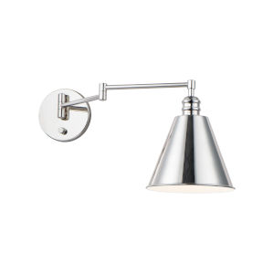 Library Polished Nickel One-Light Wall Sconce