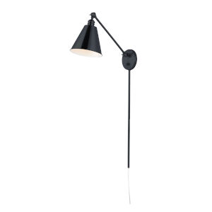 Library Black 32-Inch One-Light Wall Sconce