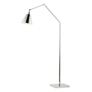 Library Polished Nickel One-Light Floor Lamp