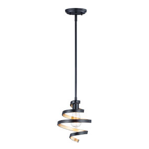 Twister Black and Gold One-Light Mini Pendant