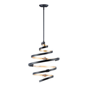 Twister Black and Gold 18-Inch Five-Light Pendant