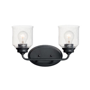 Acadia Black Two-Light Vanity Light