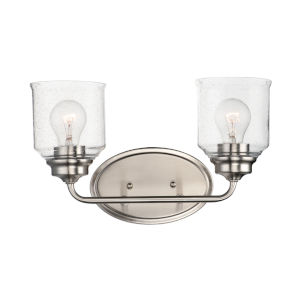 Acadia Satin Nickel Two-Light Vanity Light