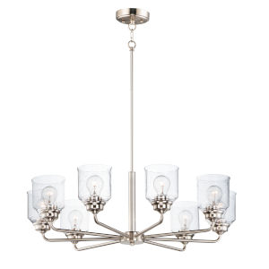 Acadia Satin Nickel Eight-Light Chandelier