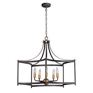 Wellington Oil Rubbed Bronze and Antique Brass 30-Inch LED Pendant
