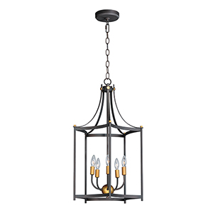 Wellington Oil Rubbed Bronze and Antique Brass 18-Inch LED Pendant