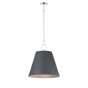 Acoustic Polished Nickel 20-Inch One-Light Pendant