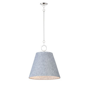 Acoustic Satin Nickel 20-Inch One-Light Pendant