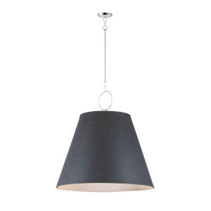 Acoustic Polished Nickel 30-Inch One-Light Pendant