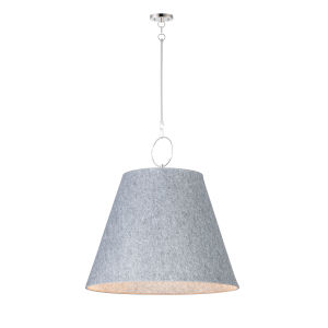 Acoustic Satin Nickel 30-Inch One-Light Pendant