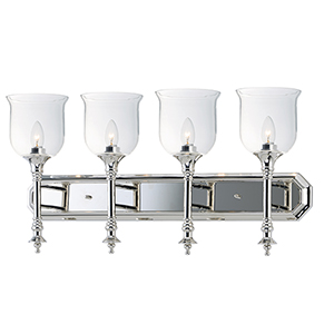 Centennial Polished Nickel 30-Inch Four-Light Bath Vanity